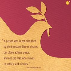 """""""A person who is not disturbed by the incessant flow of desires can alone achieve peace, and not the man who strives to satisfy such desires."""" [Bhagavad Gita]    For meditation inspiration and conscious living tips, visit www.Lifesurfing.org or Facebook.com/lifesurfing"""