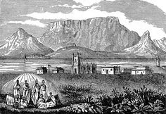 Robben Island with Table Mountain in the background Leper Colony, Nordic Walking, Cape Town South Africa, Table Mountain, African History, Live, Old Photos, Wales, Old Things