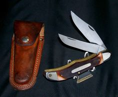 "Schrade 25OT Knife & Sheath Old Timer 1970's Folding Bowie 5-1/4"" Brilliant Rare @ ditwtexas.webstoreplace.com"