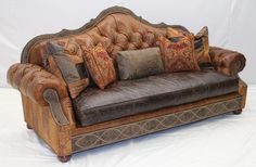 High Quality Tufted Leather Sofa
