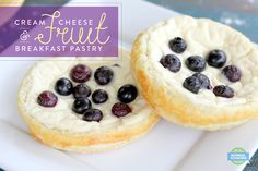 Cream Cheese & Fruit Breakfast Pastries - Light and crispy pastry with sweet and creamy cream cheese topping, and your choice of fruit! Your family will absolutely love them! Breakfast Ideas, Breakfast Recipes, Cream Cheese Topping, Cheese Fruit, Breakfast Pastries, Vegetarian Cheese, Cheese Recipes, Recipe Of The Day, Have Time