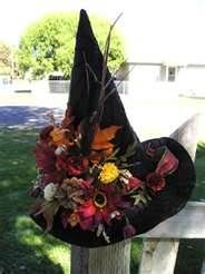 witch hat used as decoration - Bing Images