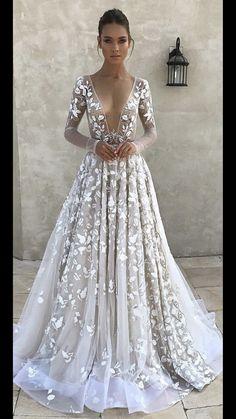 2dbdfab257 A-line Prom Dresses White Elegant Long Sleeve Prom Dress Evening Dresses  AMY1067