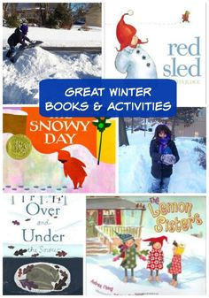 Fun kids books that pair with favorite winter activities!! What a fun idea for story time sessions :)