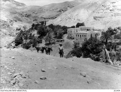 AN ANCIENT WATER DRIVEN FLOUR MILL NEAR TALAT-ED-DUMM, IN PALESTINE. THE WATER DRIVING THIS MILL IS JERICHO'S SOURCE OF WATER SUPPLY. (DONATED BY MR. E.S. CLAYTON.) Flour Mill, Water Supply, Palestine, Jerusalem, Egypt, Horses, Photos, Outdoor, Stupid