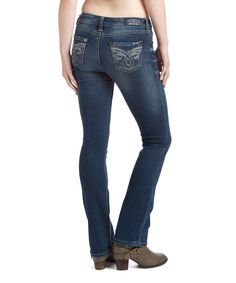 Love this Frost Knit Denim Slim Bootcut Jeans - Women by Seven7 on #zulily! #zulilyfinds