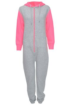 Pop Couture - Piper Two - Tone Onesie In Grey, £35.00 (http://www.popcouture.co.uk/clothing/onesies/piper-two-tone-onesie-in-grey/)