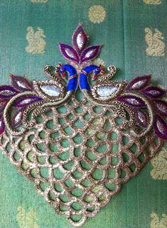 Handcrafted Appliques  Golden Zardosi Work  Bridal