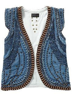 MAISON SCOTCH embellished denim gillet