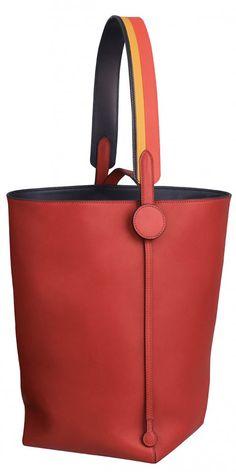 Licol Hermès 19 bag in Volupto calfskin, Rocabar strap