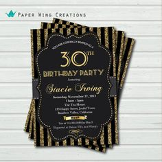 40th birthday invitation. Man or Woman. by ThePaperWingCreation, $12.00