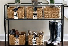 baskets for each person... love this!