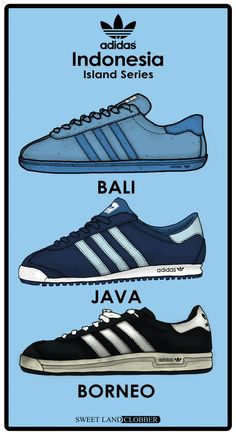 ADIDAS' ISLAND SERIES OF TRAINERS ARE WELL WORTH COLLECTING - HERE'S A PERIOD ADVERTISING POSTER