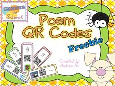 This is my first time creating QR codes! All of the QR codes are linked to nursery rhymes and poems from YouTube videos. In this packet there are 21 poems and nursery rhymes. Just print, cut, laminate and put them on a binder ring. I leave this in my reading library for my kindergarteners to use with our classroom iPads.