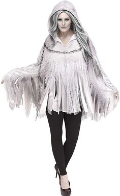 Ghost Poncho for Women Halloween Costume Accessories One Size for sale online Easy Halloween Costumes, Halloween Town, Baby Halloween, Adult Costumes, Costumes For Women, Zombie Costume Women, California Costumes, Hooded Poncho, Halloween Costume Accessories