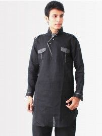 Buy #Bodyline #Men Black #Pathani #Kurta @YuvaStyle India
