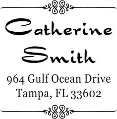 Smith Deco 4 Line Return Address Stamp image