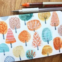 """5,764 Likes, 45 Comments - Ohn Mar Win (@ohn_mar_win) on Instagram: """"It's a wet day but the rain has brought out the deep autumn colours #sketchbook #sketchaday2016…"""""""