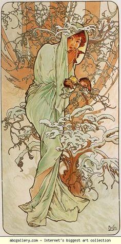 Alphonse Mucha. Winter. From The Seasons Series. 1896.