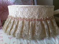 Your place to buy and sell all things handmade Shabby Chic Baby, Shabby Chic Cottage, Velvet Ribbon, Pink Velvet, Shabby Chic Lighting, Old Lamp Shades, Lampshades, Lace, Craft Projects
