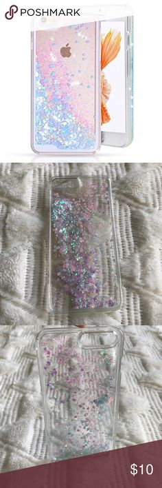 iPhone 7 Plus Glitter Case Such a cute case. Pink and blue glitter liquid fill the clear case which makes it stand out once on the phone. A very fun and unique case! The pictures don't do the case justice. Accessories Phone Cases