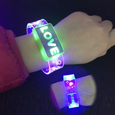 Objective Led Slap Armband Lights Glow Band For Running Replaceable Battery Glow Bracelets Running Bracelet Running Gear Sports & Entertainment