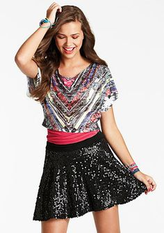 #dELiA`s                  #Skirt                    #Sequin #Skater #Skirt    Sequin Skater Skirt                                 http://www.seapai.com/product.aspx?PID=87546