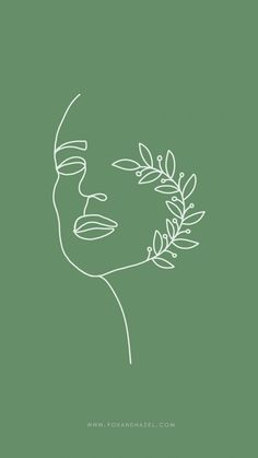 Sage Green Phone Wallpaper - Fox + Hazel | free art + designs