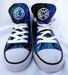 Doctor Who Shoes by SatansSlippers on Etsy, £40.00