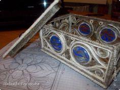 Мастер-класс Шкатулка в технике джутовая филигрань Мастер-класс Камень Клей Шпагат фото 1
