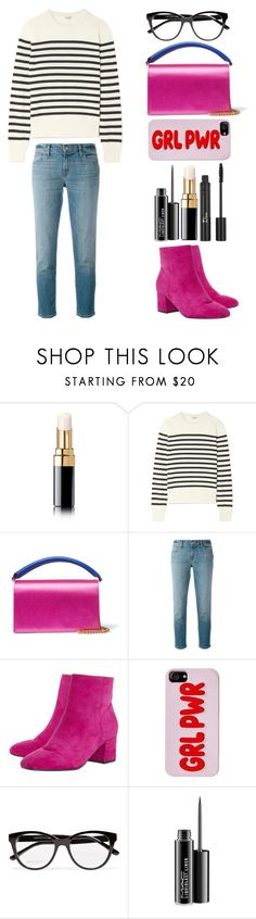 """""""Style #448"""" by maksimchuk-vika ❤ liked on Polyvore featuring Chanel, Yves Saint Laurent, Diane Von Furstenberg, J Brand, Dune, Jimmy Choo, MAC Cosmetics and Christian Dior"""
