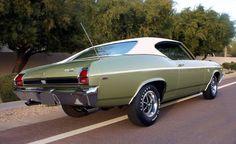 1969 Chevelle in Frost Green - Auto 2019 Classic Chevrolet, Ford Classic Cars, Best Classic Cars, Chevrolet Ss, Chevy Muscle Cars, Best Muscle Cars, American Muscle Cars, 1969 Chevy Chevelle, Hot Cars