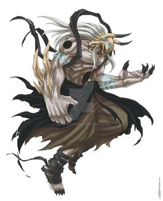 Commission - Great Maw by Geofffffff Dark Fantasy Art, Anime Fantasy, Fantasy Artwork, Fantasy Character Design, Character Design Inspiration, Character Art, Bleach Fanart, Bleach Anime, Fantasy Monster