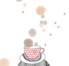 My Lovely Drink coffee tea food art, Illustration My Lovely Thing