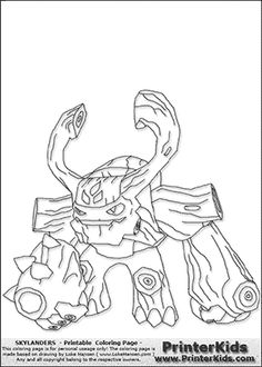 skylanders on Pinterest | Coloring Pages, Skylanders Swap ...