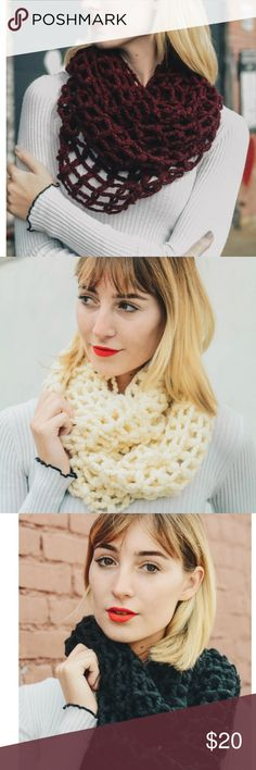 Scarves Net Knit Infinity Scarf Accessories Scarves & Wraps