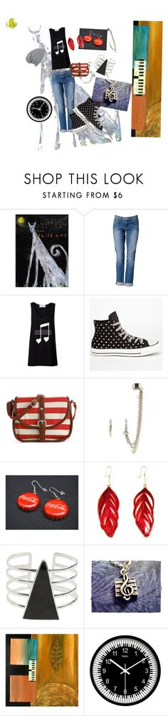 """🎶🎵🎶"" by jenni-donovan ❤ liked on Polyvore featuring NOVICA, J Brand, Converse, Kelly & Katie, American Eagle Outfitters, Aurélie Bidermann and SunaharA"