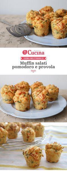 #Muffin salati #pomodoro e #provola Antipasto, Tapas, Food Porn, Brunch, Vol Au Vent, Good Food, Yummy Food, Xmas Food, Food Humor