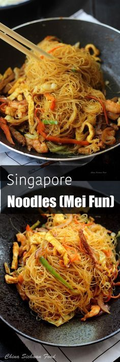 the 4 Cycle Solutions Japanese Diet - Singapore noodles Discover the Worlds First & Only Carb Cycling Diet That INSTANTLY Flips ON Your Bodys Fat-Burning Switch Asian Recipes, Healthy Recipes, Ethnic Recipes, Mexican Recipes, Singapore Food, Singapore Mei Fun Recipe, Asian Cooking, International Recipes, Pasta Dishes