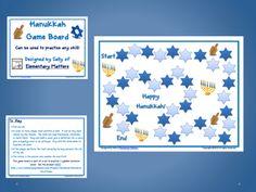 Elementary Matters: Hanukkah Game Board Freebie
