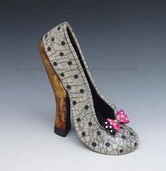 Joanne Bedient Raku Shoe