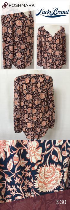 Selling this Lucky Brand Floral Blouse on Poshmark! My username is: dcgirl04. #shopmycloset #poshmark #fashion #shopping #style #forsale #Lucky Brand #Tops