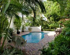 Vero Beach Island Homes in Florida - Private tropical yard with pool.  http://www.VeroPremierProperties.com