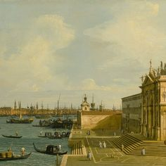Giovanni Antonio Canal, called Canaletto, Venice, a view of the Grand Canal looking East with Santa Maria della Salute - Alain. Italian Paintings, European Paintings, Oil Paintings, The Royal Collection, Museum Collection, Rococo, Baroque Painting, Baroque Art, Grand Canal