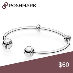 Pandora open charm bangle bracelet New pandora open bangle Pandora Jewelry