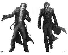 Joker Concept Art for BATMAN: ARKHAM ORIGINS — GeekTyrant