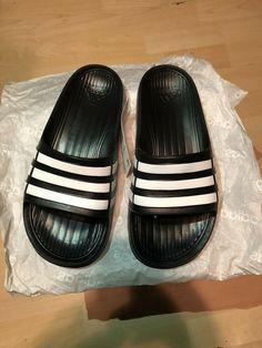 7e286b1a179219 Youth Adidas Originals Duramo Slide Sandal Black White Size 1 Boys Girls  Kids  fashion  clothing  shoes  accessories  kidsclothingshoesaccs   unisexshoes ...