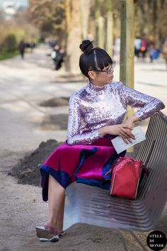 Paris Fashion Week FW 2015 Street Style: Susie Lau - STYLE DU MONDE | Street Style Street Fashion Photos