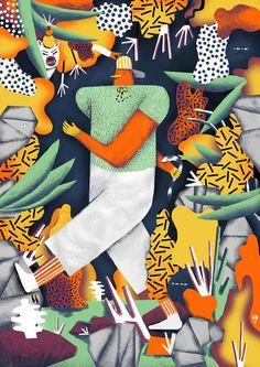 Karol Banach młody zdolny artysta rysunki ilustracja grafika plakat