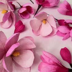 Handmade Italian crepe paper Magnolia's.